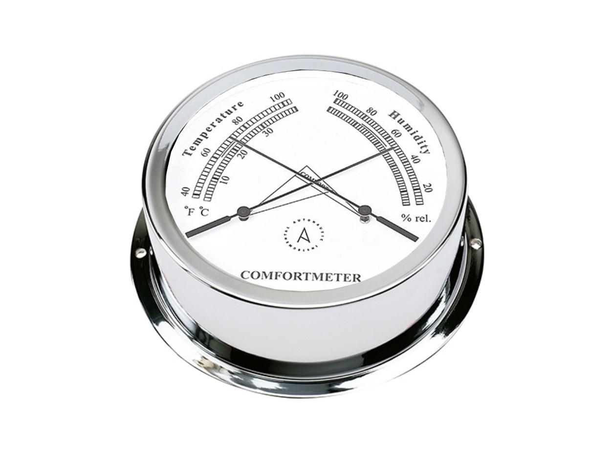Confortómetro Náutico Termo Higro Cromado TH95C