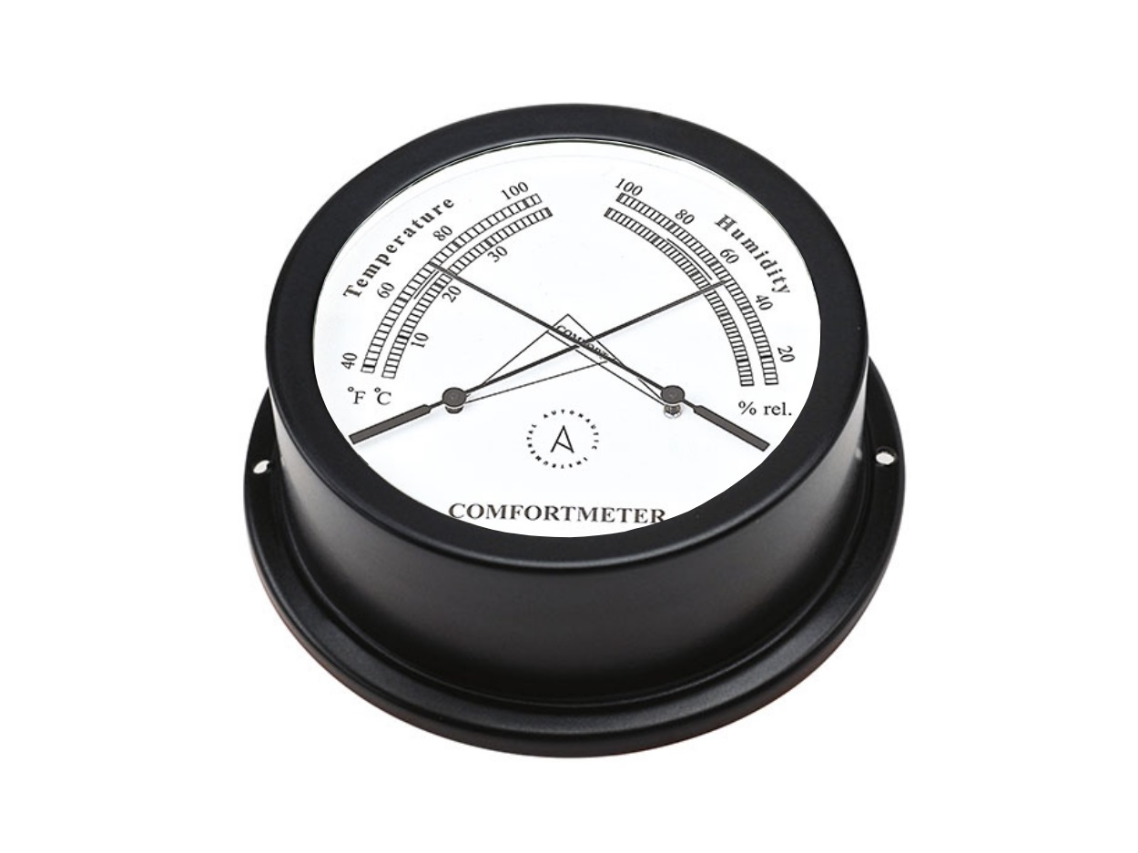 Confortómetro Náutico Termo Higro Negro TH95N